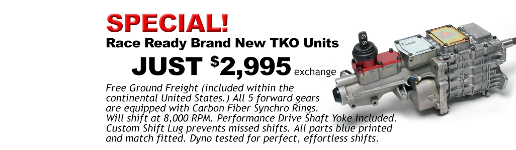 Race Ready Brand New TKO Units